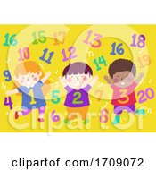 Poster, Art Print Of Kids Numbers Dance Numbers Illustration