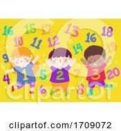 Kids Numbers Dance Numbers Illustration