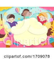 Kids Sweets Colorful Frame Illustration