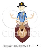 Police Deer Poaching Illustration
