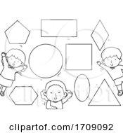 Kids Basic Shapes Coloring Illustration
