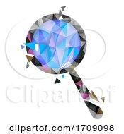 Magnifying Glass Geometric Design Illustration