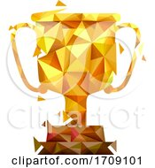 Trophy Geometric Design Illustration