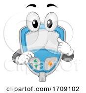Mascot Blood Sugar Tester Illustration