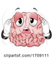 Mascot Brain Exhausted Illustration