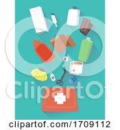 First Aid Kit Elements Illustration