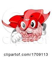Mascot Super Brain Illustration