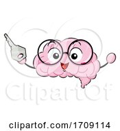 Mascot Brain Unlock Illustration