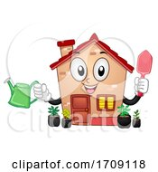 Mascot Cleaning Home Gardening Illustration