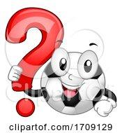 Mascot Soccer Ball Game Question Mark Illustration