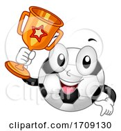 Mascot Soccer Ball Trophy Illustration