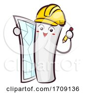 Mascot Blue Print Pencil Illustration