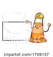 Mascot Traffic Cone Board Illustration