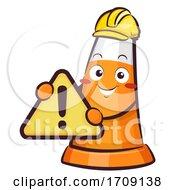 Traffic Cone Warning Men At Work Illustration
