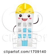 Mascot Building Construction Illustration