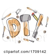 Woodworking Lettering Illustration