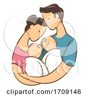 Parent With Newborn Twins