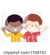 Poster, Art Print Of Kids Boy African Look Like Illustration