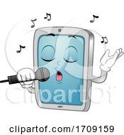 Mascot Tablet Mobile Videoke Sing Illustration