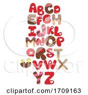 Valentines Letters Alphabet Illustration