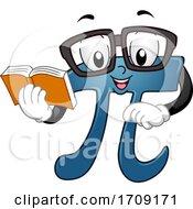 Mascot Pi Book Illustration