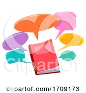 Book Speech Bubbles Illustration