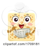 Poster, Art Print Of Mascot Waffle Bake Illustration