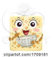 Mascot Waffle Bake Illustration