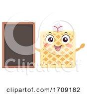 Mascot Waffle Board Illustration