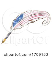 Quill American Flag Illustration by BNP Design Studio