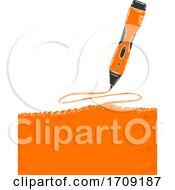 Pen Poster Design 3D Illustration