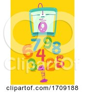 Printer Numbers 3D Illustration