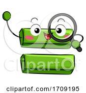 Mascot Equal Sign Magnifying Glass Illustration