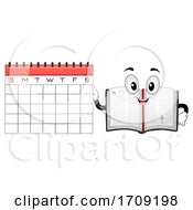 Mascot Bible Calendar Illustration