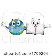 Poster, Art Print Of Mascot Earth Bible Friends Illustration