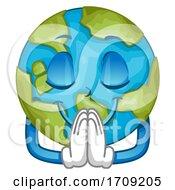 Poster, Art Print Of Mascot Earth Pray Illustration