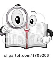 Mascot Bible Magnifying Glass Illustration