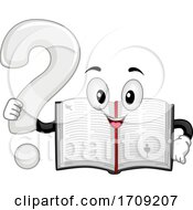 Mascot Bible Question Mark Illustration