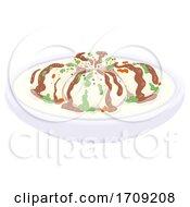 Holi Food Dahi Vada Illustration