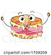 Poster, Art Print Of Reuben Sandwich Mascot Illustration