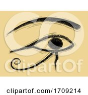 Egypt God Horus Eye Illustration