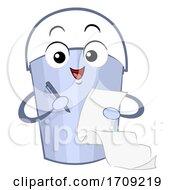 Bucket Mascot Bucket List Illustration