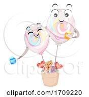 Mascot Balloon Marble Illustration