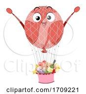 Mascot Balloon Netting Illustration