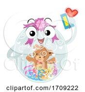 Mascot Balloon Wrapped Illustration