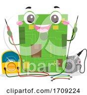 Circuit Board Mascot Voltmeter Soldering Iron