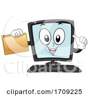 Mascot Computer File Records Illustration