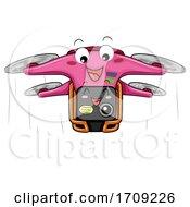 Mascot Drone Camera Illustration