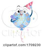 Mascot Mylar Balloon Birthday Party Illustration