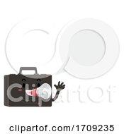 Suitcase Megaphone Speech Bubble Illustration